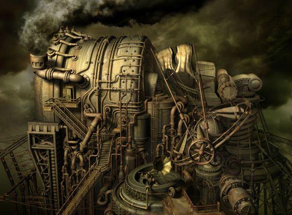 Steampunk Chemistry Lab - Google Stuff