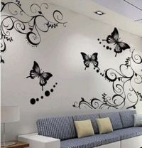 Cute Butterfly and Beautiful Flowers Wallpapers Stickers