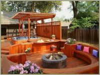 Deck Designs with Fire Pit | Fire Pits | Pinterest | Deck ...