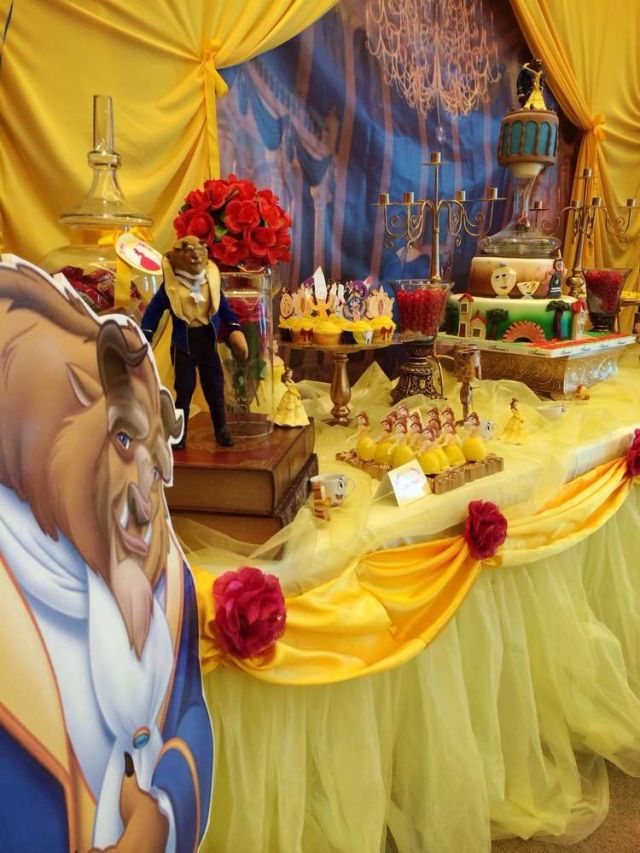 Beauty and the beast birthday party ideas birthday party