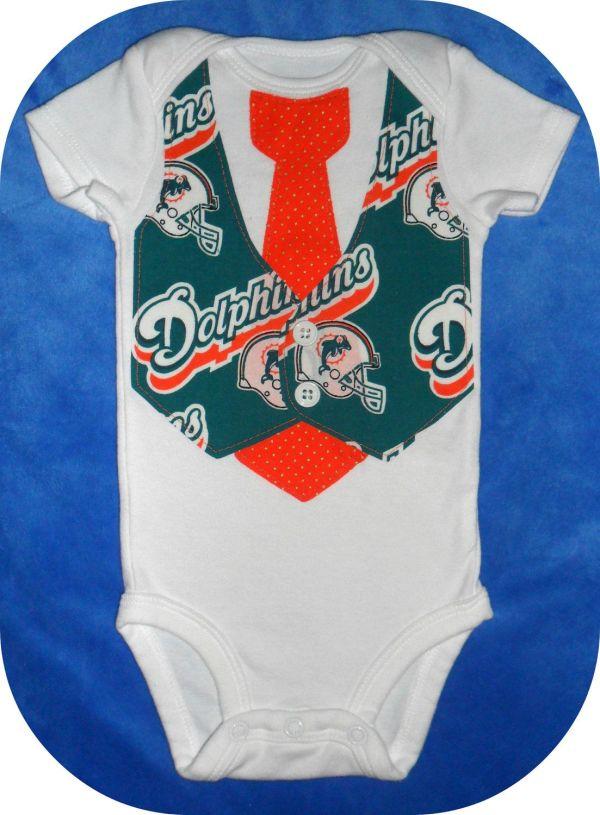 Nfl Football Team Vest & Tie Baby Onesie