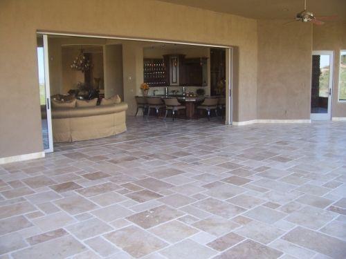 TRAVERTINE TILE VERSAILLES PATTERN  239 SF in Mesa AZ 85213   Outdoor Ideas  Pinterest  Best Versailles pattern Travertine tile and