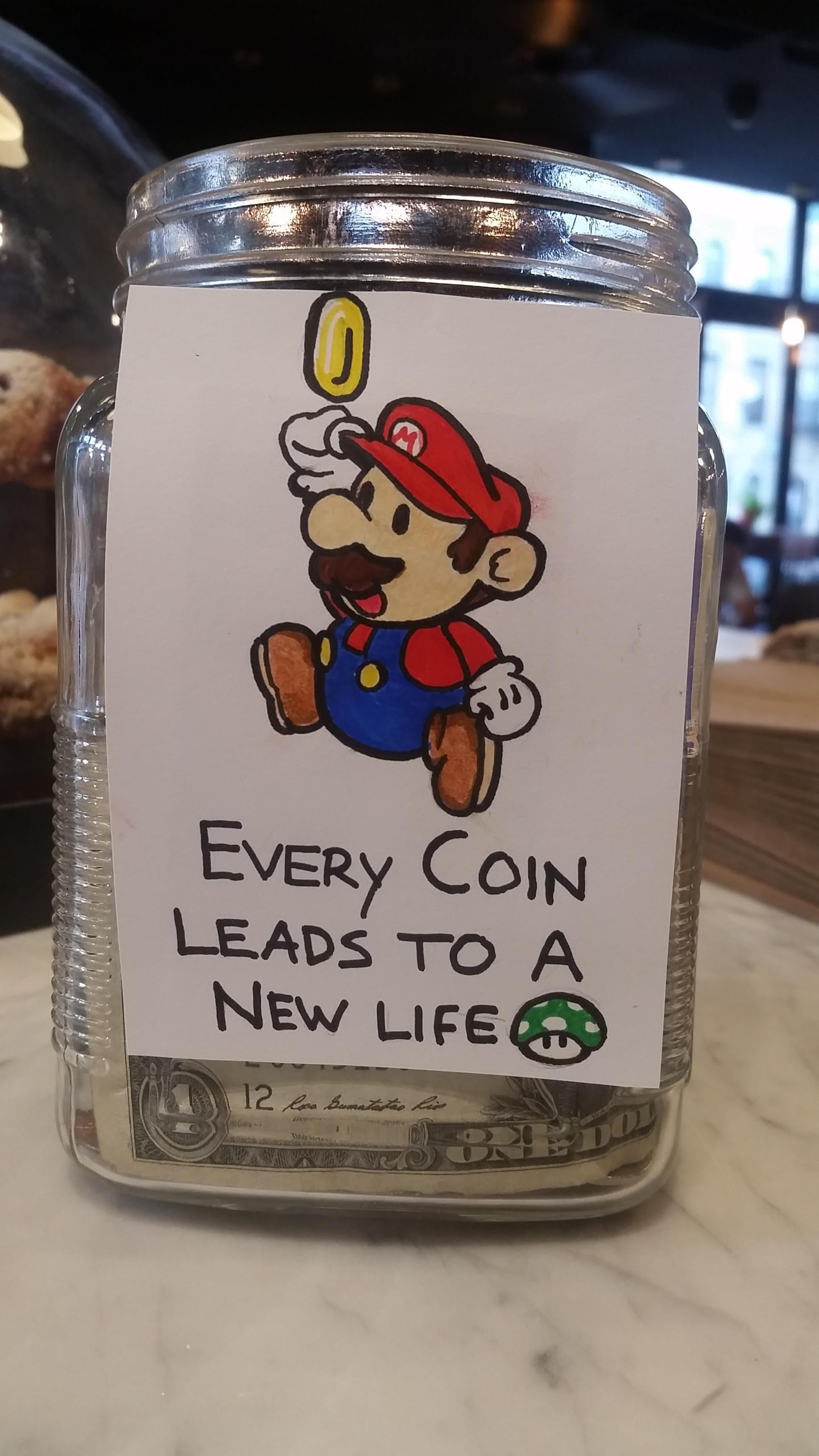 Mario Barista Tip Jar  Video Game Fun  Pinterest  Barista, Jar And Nintendo