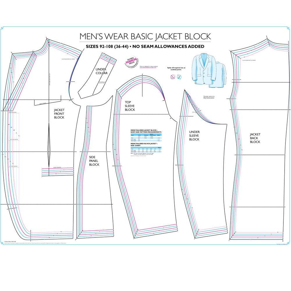 Mens Suit Jacket Sewing Pattern