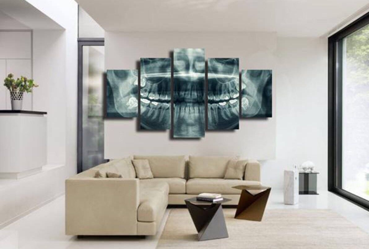 Do you ever use radiographs in your dental office decor