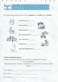 Greetings and daily routines | Worksheet | Rockalingua ...