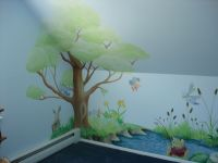 hand painted tree wall mural | DreamWallDesigns - Custom ...