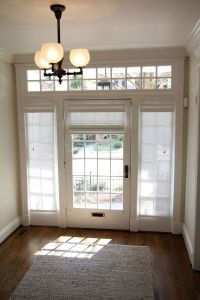 Curtains, Drapes and Blinds for a Glass Front Door | Glass ...