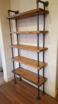 Pipe Shelving Unit / Pipe Bookcase / Industrial Book Case ...