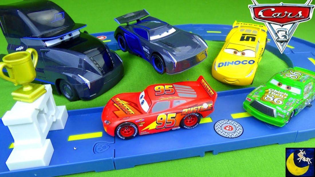 Disney cars 3 toys jackson storm truck hauler gale