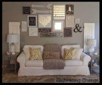 Living Room decor - rustic farmhouse style. Rustic taller ...