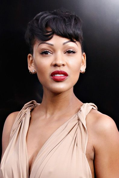 Meagan Good Short Cut With Bangs Beautiful Sexy And Hairstyles