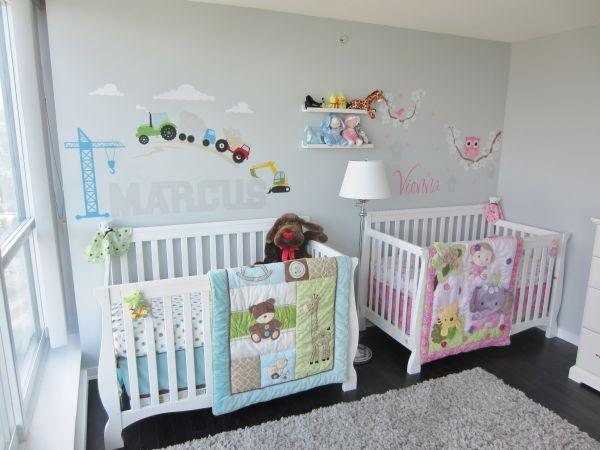 Baby Twins Boy and Girl Nursery