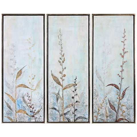Shining florals piece  framed canvas wall art set also rh pinterest