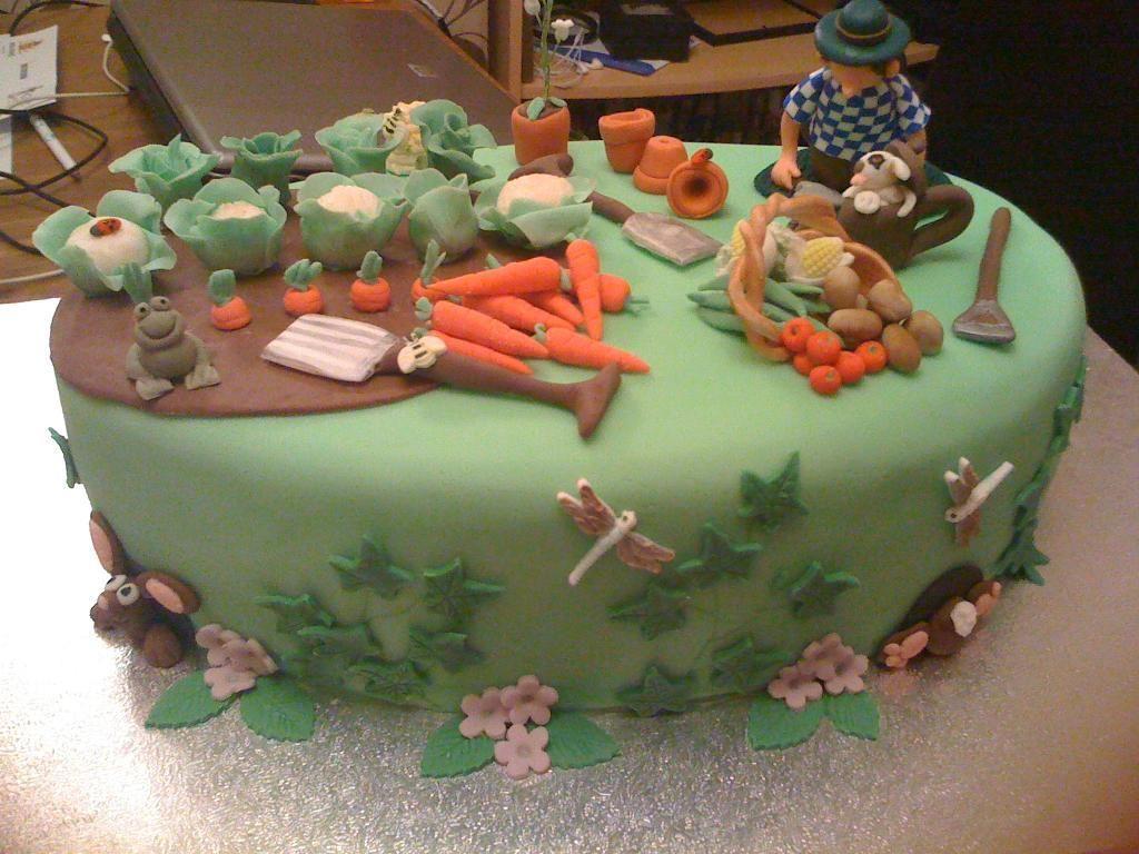 Funky Garden Decor Gardening Cake By Mrs BonBon Cake