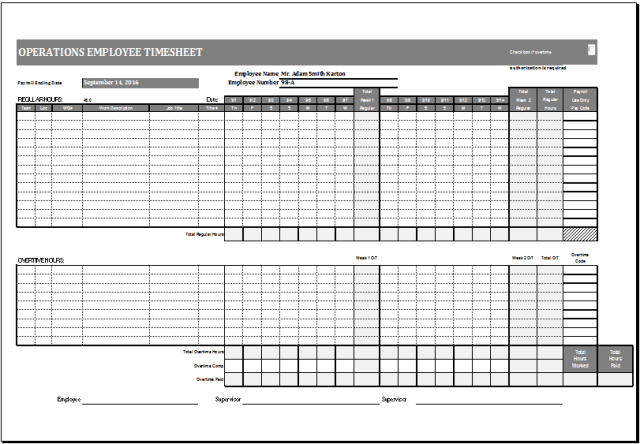 employee time cards free download
