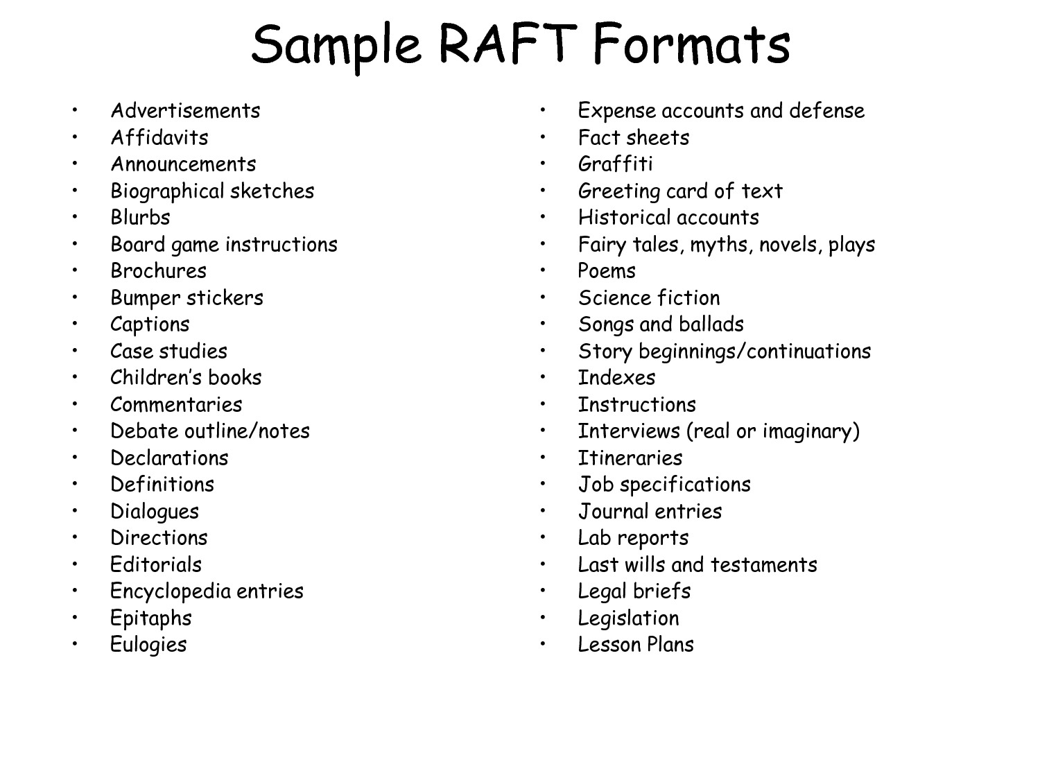 Raft Examples For English Cstoc Docs Sample