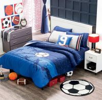 Twin and Full Boys and teens Soccer Comforter Set #VNG