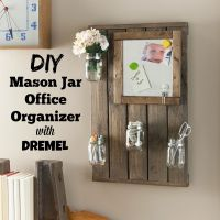 DIY Bathroom Organizer or Office Organizer Wall Art