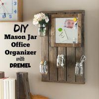 DIY Bathroom Organizer or Office Organizer Wall Art ...