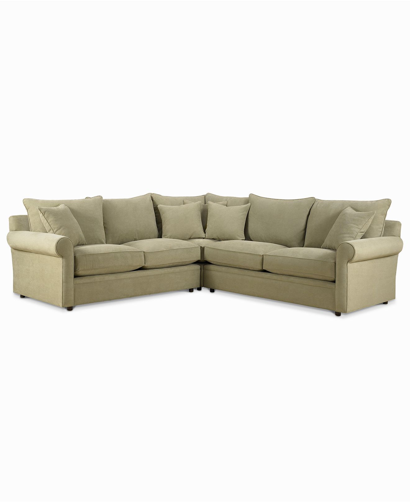 sofa microfiber fabric rochester sofas and dining suites doss 3 piece sectional apartment