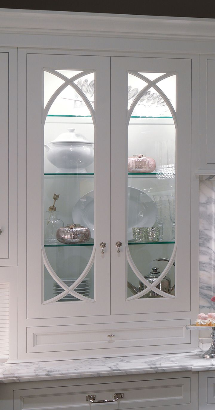 Id really like wavy glass upper cabinet doors with glass
