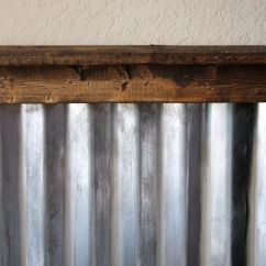 Corrugated Steel Chair Rail Brown Leather Slipper Metal Walls On Pinterest