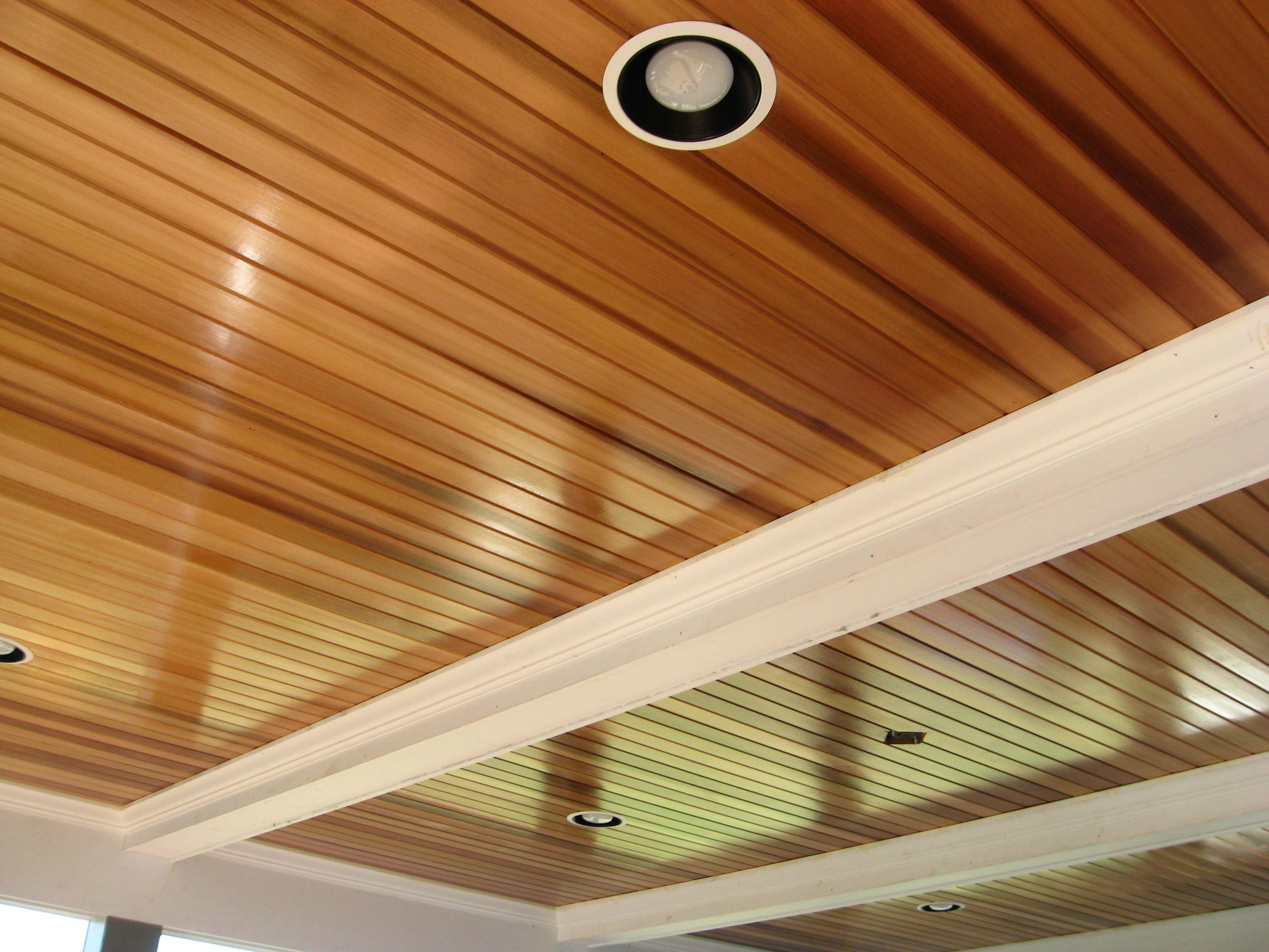 Beautifully Shiny Cedar Ceiling General Interior