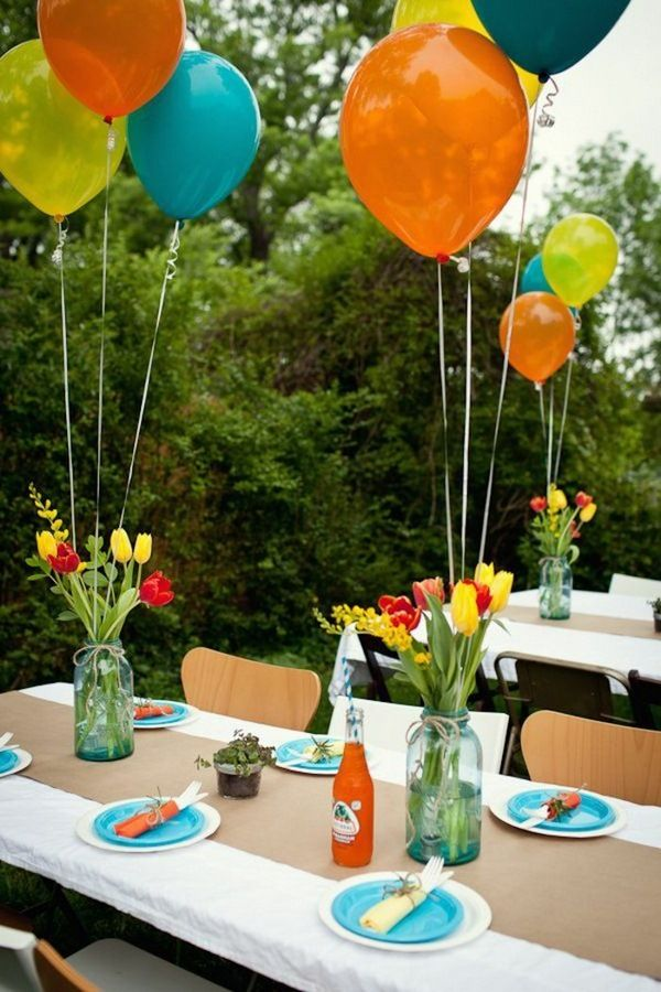 Deco Ideas Garden Party Balloons Tischdeko Ideas Room