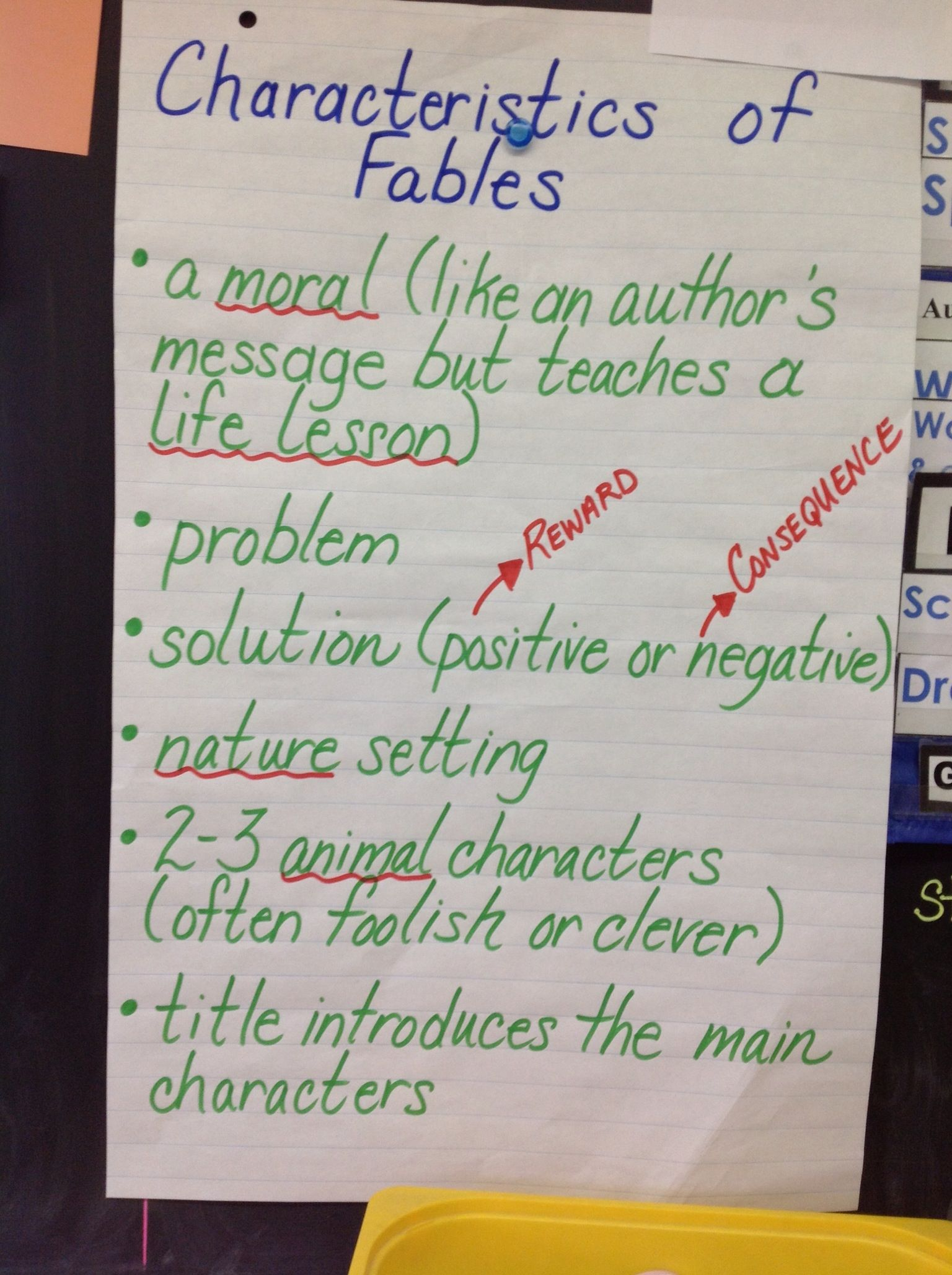 Fables Success Criteria