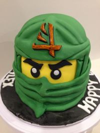 I made this ninjago cake for my boy 6 years old birthday ...