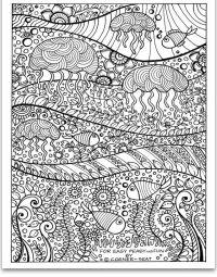 Jellyfish Coloring Page   Jellyfish   Pinterest ...