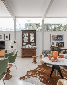 Evans woollen iii designed this mid century home located in indianapolis indiana  can   help but love house terrazzo flat roof walls of glass also mcm design pinterest rh