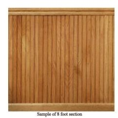 Home Depot Chair Rail Molding Pod Hanging House Of Fara 8 Lin. Ft. Red Oak Tongue And Groove Wainscot Paneling | Wainscoting, ...