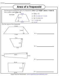 Area of Trapezoids Printable | Math | Pinterest | Area ...