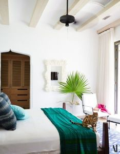 Room also in  guest leo takes seat on the bed homes interiors rh pinterest