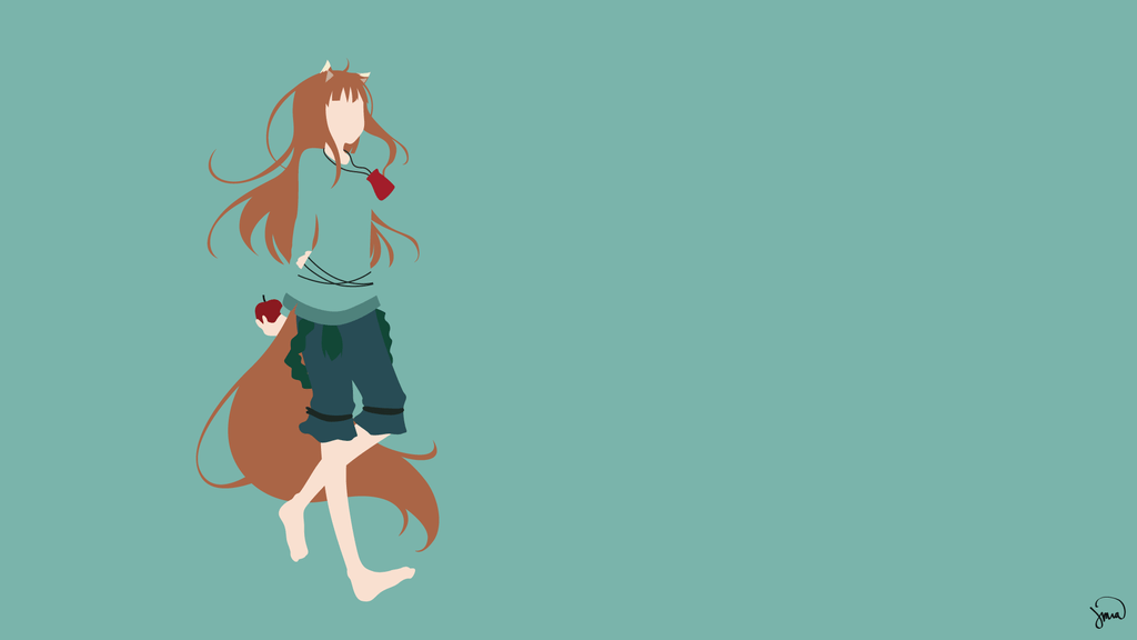 The Girl Who Leapt Through Time Wallpaper 1920x1080 Holo Spice And Wolf Minimalist Wallpaper By