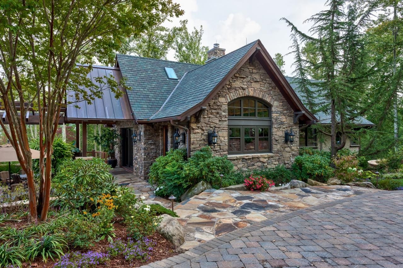 Amazing Outdoor Space In Mountain Setting Stone Exterior