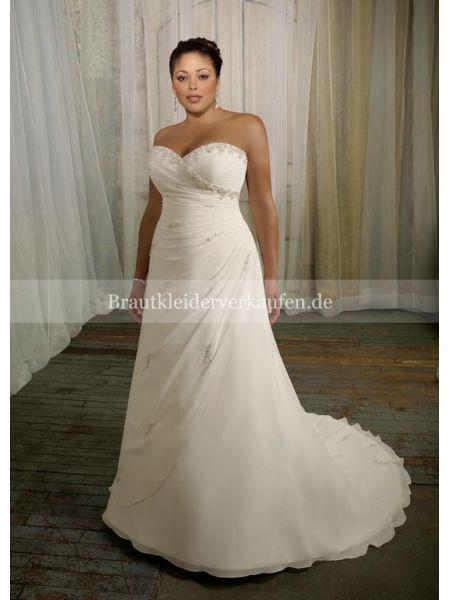 Große Größen Brautkleid Brautkleider Große Größen Pinterest