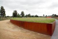corten steel retaining wall | Retaining Wall | Pinterest ...