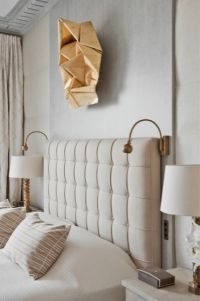 Jean Louis Deniot headboard, sconces and table lamps ...