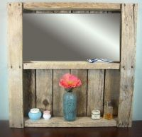 Rustic Bathroom Mirror Shelf Rustic Wine Rack by