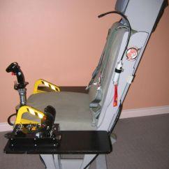 Flight Simulator Chair Motion Ergonomic Thoracic Support Tm Warthog Glider Rocker Sim Seat Mod Pit