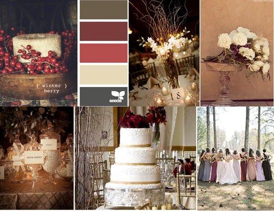 Burgundy Wedding Color Scheme