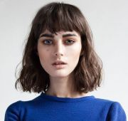 above brow bangs with length