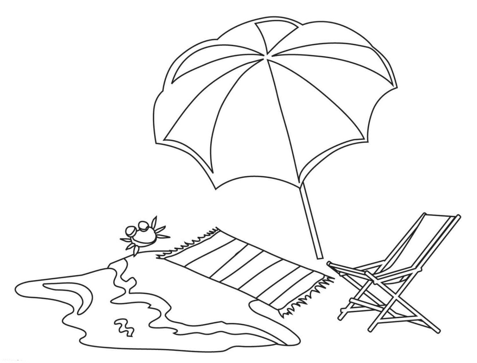 dibujo tumbona playa para colorear