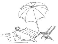 dibujo tumbona playa para colorear - Buscar con Google ...