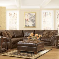 Discounted Leather Sofas Fix Sagging Sofa Springs Traditional Dark Brown Bonded Sectional Couch ...