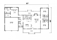 Simple Ranch House Plan | ... Ranch House Luxury Log Home ...