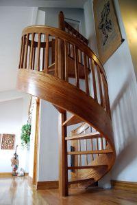 11 Modern Space Saving Stairs Ideas : Wooden Spiral ...